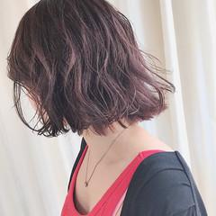 ラベンダーピンク ナチュラル ラベンダー ラベンダーアッシュ ヘアスタイルや髪型の写真・画像