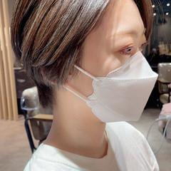 コントラストハイライト 大人ハイライト ナチュラル インナーカラー ヘアスタイルや髪型の写真・画像