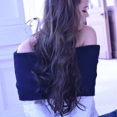 ロング ブルージュ 透明感 外国人風カラー ヘアスタイルや髪型の写真・画像