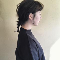 簡単ヘアアレンジ ガーリー ゆるい フィッシュボーン ヘアスタイルや髪型の写真・画像