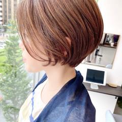 ナチュラル ショートボブ オフィス デート ヘアスタイルや髪型の写真・画像