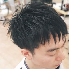 ツーブロック 爽やか ショート 束感 ヘアスタイルや髪型の写真・画像