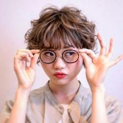 ゆるふわ ガーリー フェミニン ショート ヘアスタイルや髪型の写真・画像