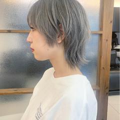 ジェンダーレス ウルフ女子 ネオウルフ ショート ヘアスタイルや髪型の写真・画像