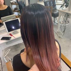 透明感カラー ピンク ミディアム ブリーチ必須 ヘアスタイルや髪型の写真・画像