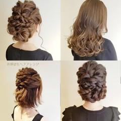 ナチュラル 結婚式 簡単ヘアアレンジ 結婚式ヘアアレンジ ヘアスタイルや髪型の写真・画像