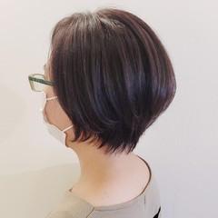 ショートヘア 小顔ショート ハンサムショート ナチュラル ヘアスタイルや髪型の写真・画像
