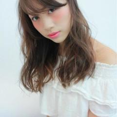 ロング ピュア アッシュ 暗髪 ヘアスタイルや髪型の写真・画像