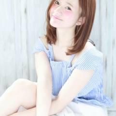 モテ髪 大人かわいい ミディアム コンサバ ヘアスタイルや髪型の写真・画像