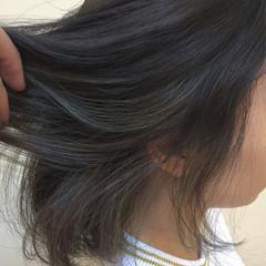 色気 アッシュ 暗髪 ストリート ヘアスタイルや髪型の写真・画像