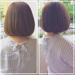ボブ 髪質改善 艶髪 ナチュラル ヘアスタイルや髪型の写真・画像