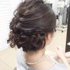上品 編み込み エレガント 結婚式 ヘアスタイルや髪型の写真・画像