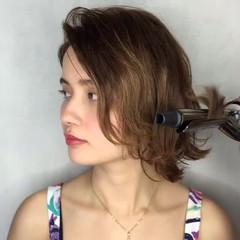 ウェットヘア ボブ 簡単ヘアアレンジ ショート ヘアスタイルや髪型の写真・画像