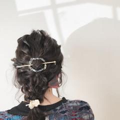 ナチュラル デート 簡単ヘアアレンジ ミディアム ヘアスタイルや髪型の写真・画像