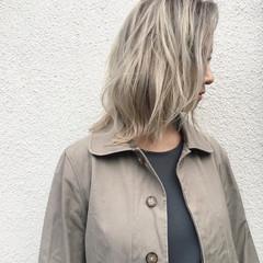ナチュラル ミディアム 透明感 秋 ヘアスタイルや髪型の写真・画像