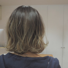 ストリート ダブルカラー グラデーションカラー ボブ ヘアスタイルや髪型の写真・画像