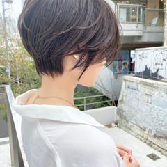 大人ショート ナチュラル ショートヘア マッシュショート ヘアスタイルや髪型の写真・画像