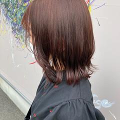 ボブ 切りっぱなしボブ ストリート 韓国ヘア ヘアスタイルや髪型の写真・画像