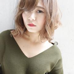 ゆるふわ 外国人風 ハイライト フェミニン ヘアスタイルや髪型の写真・画像