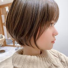 ワンカール ナチュラル ショートヘア ショートボブ ヘアスタイルや髪型の写真・画像