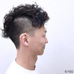 ハイライト 暗髪 モード 刈り上げ ヘアスタイルや髪型の写真・画像