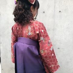 ハーフアップ 着物 ヘアアレンジ 卒業式 ヘアスタイルや髪型の写真・画像