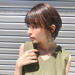 ショートボブ ハンサムショート ショート ヘアアレンジ ヘアスタイルや髪型の写真・画像
