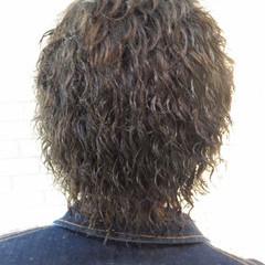 スパイラルパーマ ショート ストリート ボーイッシュ ヘアスタイルや髪型の写真・画像