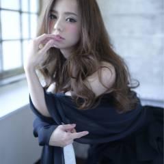 大人かわいい フェミニン モード ロング ヘアスタイルや髪型の写真・画像