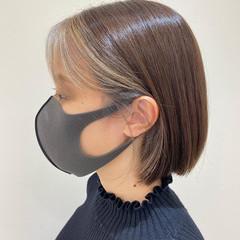 ミニボブ ボブ インナーカラー モード ヘアスタイルや髪型の写真・画像