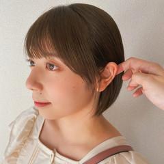 ボブ フェミニン ショートボブ ミニボブ ヘアスタイルや髪型の写真・画像