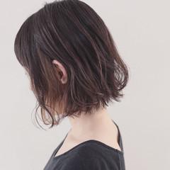 外国人風 インナーカラー ボブ 秋 ヘアスタイルや髪型の写真・画像