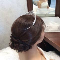 花嫁 結婚式髪型 ロング 結婚式アレンジ ヘアスタイルや髪型の写真・画像