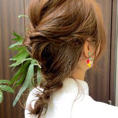 ハイライト セミロング ショート 夏 ヘアスタイルや髪型の写真・画像