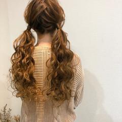 ロング ツインテール ヘアアレンジ ガーリー ヘアスタイルや髪型の写真・画像