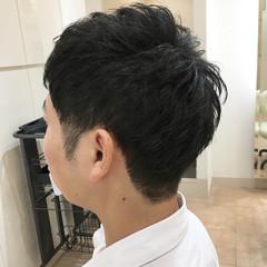 ツーブロック ナチュラル メンズカット メンズショート ヘアスタイルや髪型の写真・画像