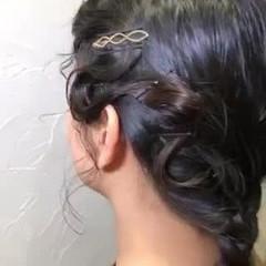 お呼ばれヘア セミロング モード 振袖ヘア ヘアスタイルや髪型の写真・画像