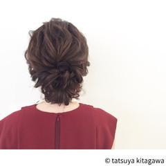上品 エレガント セミロング 結婚式 ヘアスタイルや髪型の写真・画像