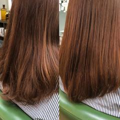 サラサラ ナチュラル 艶髪 セミロング ヘアスタイルや髪型の写真・画像
