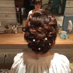 ヘアセット 結婚式アレンジ ヘアアレンジ 結婚式ヘアアレンジ ヘアスタイルや髪型の写真・画像