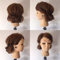 くるりんぱ セミロング 結婚式 フェミニン ヘアスタイルや髪型の写真・画像