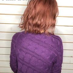 切りっぱなしボブ ボブ ヘアカラー フェミニン ヘアスタイルや髪型の写真・画像