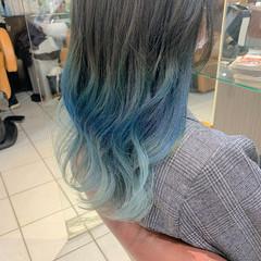 外国人風 インナーカラー グラデーションカラー アンニュイほつれヘア ヘアスタイルや髪型の写真・画像