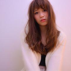 おフェロ ピンク ガーリー デート ヘアスタイルや髪型の写真・画像