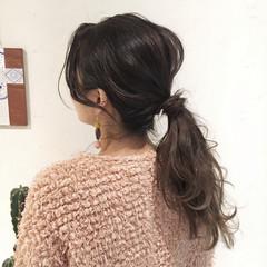 簡単ヘアアレンジ オフィス ナチュラル ヘアアレンジ ヘアスタイルや髪型の写真・画像