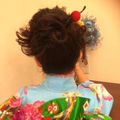 ミディアム 着物 ショート 簡単ヘアアレンジ ヘアスタイルや髪型の写真・画像