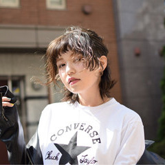 ウルフカット ボブ 大人女子 簡単ヘアアレンジ ヘアスタイルや髪型の写真・画像
