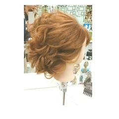 大人かわいい 簡単ヘアアレンジ ゆるふわ ショート ヘアスタイルや髪型の写真・画像