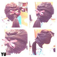 編み込み 抜け感 ポニーテール ヘアアレンジ ヘアスタイルや髪型の写真・画像