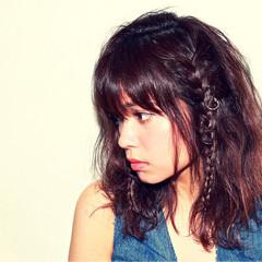 ショート ミディアム 簡単ヘアアレンジ 外国人風 ヘアスタイルや髪型の写真・画像